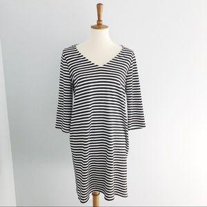 Karen Kane Striped V-Neck Dress Size Medium
